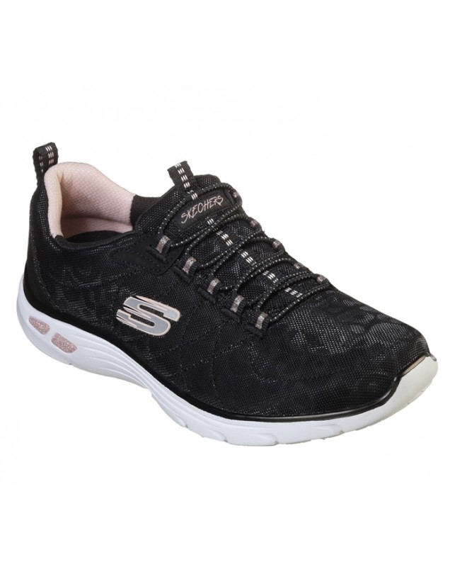 Skechers-WOMENS EMPIRE D'LUX-SPOTTED-BKRG