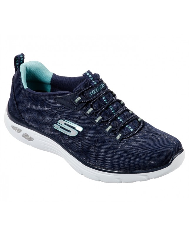 Skechers-WOMENS EMPIRE D´LUX-SPOTTED-NVY