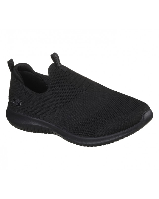 Skechers-WOMENS ULTRA FLEX-BBK BLACK