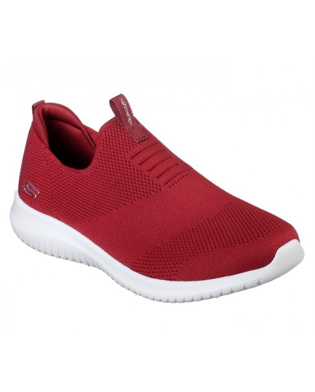 Skechers-WOMENS ULTRA FLEX-RED