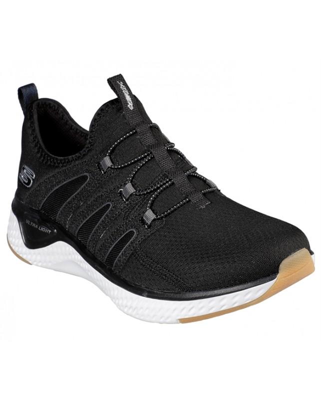 Skechers-SOLAR FUSE-ELECTRIC PULSE-BLACK/WHITE