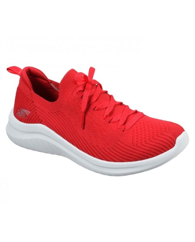 Skechers-WOMENS ULTRA FLEX 2.0-FLASH IL-RED