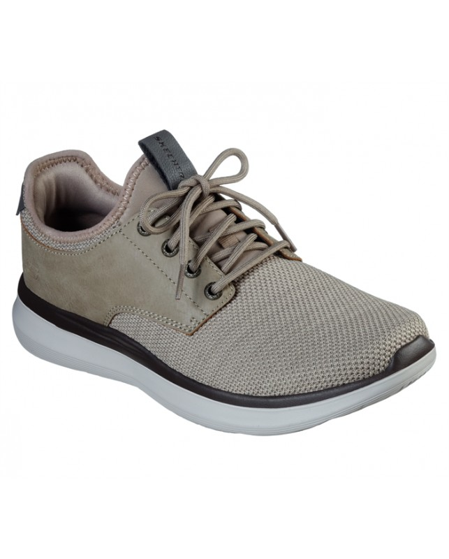 Skechers-MENS DELSON 2.0-TAUPE