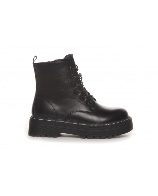 DUFFY-BOOTS BLACK INSIDE ZIP-BLACK