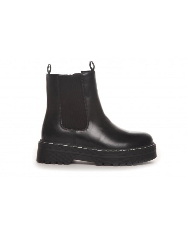 DUFFY-BOOTS INZIDE ZIP BLACK-BLACK