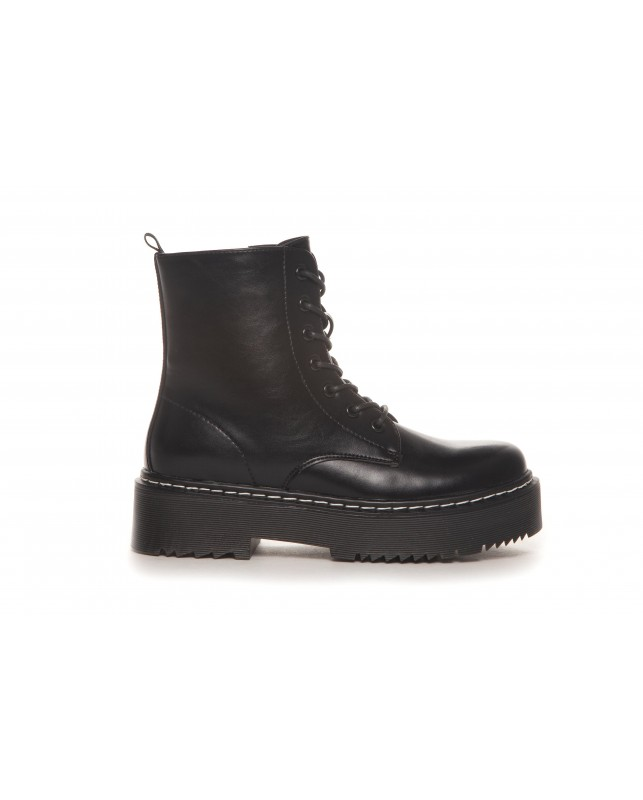 DUFFY-BOOTS BLACK INZIDE ZIP-BLACK